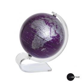 небольшой настольный фиолетовый глобус